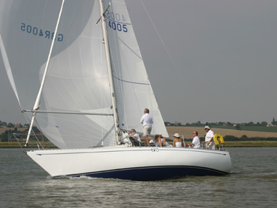 UFO racing in Burnham Week 2004 (above) (Oyster Yachts)