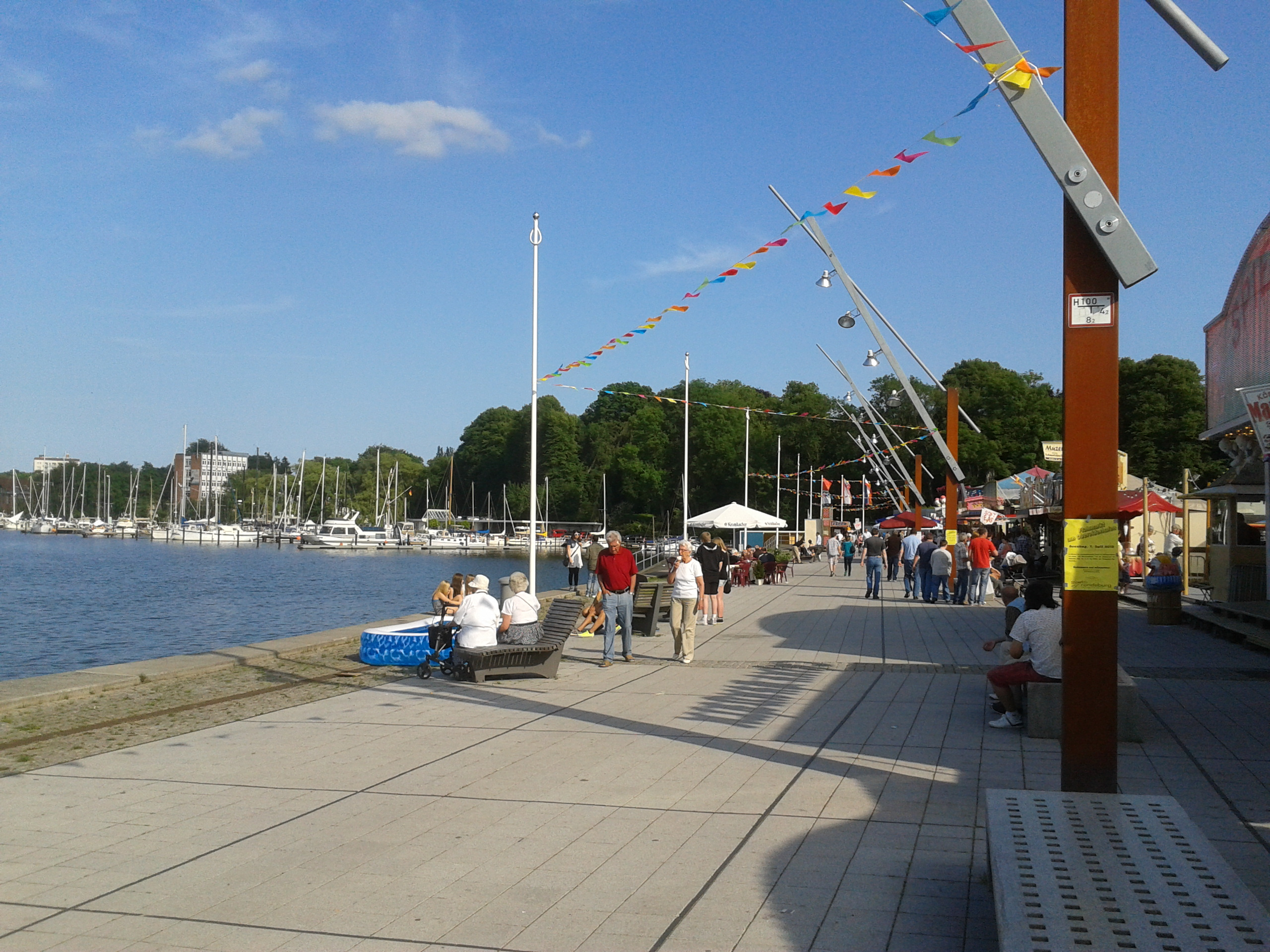 Summer weather at Rendsburg