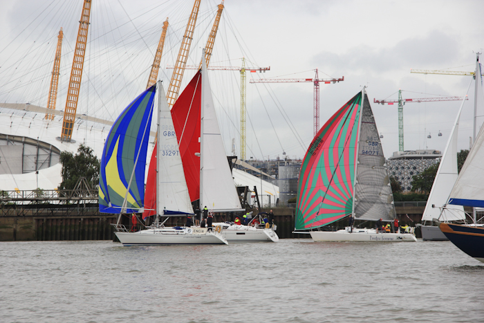 Past the O2, Thames Trafalgar Race 2016 (Sally Armstrong)