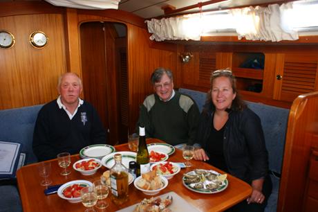 Dinner on board in Brest