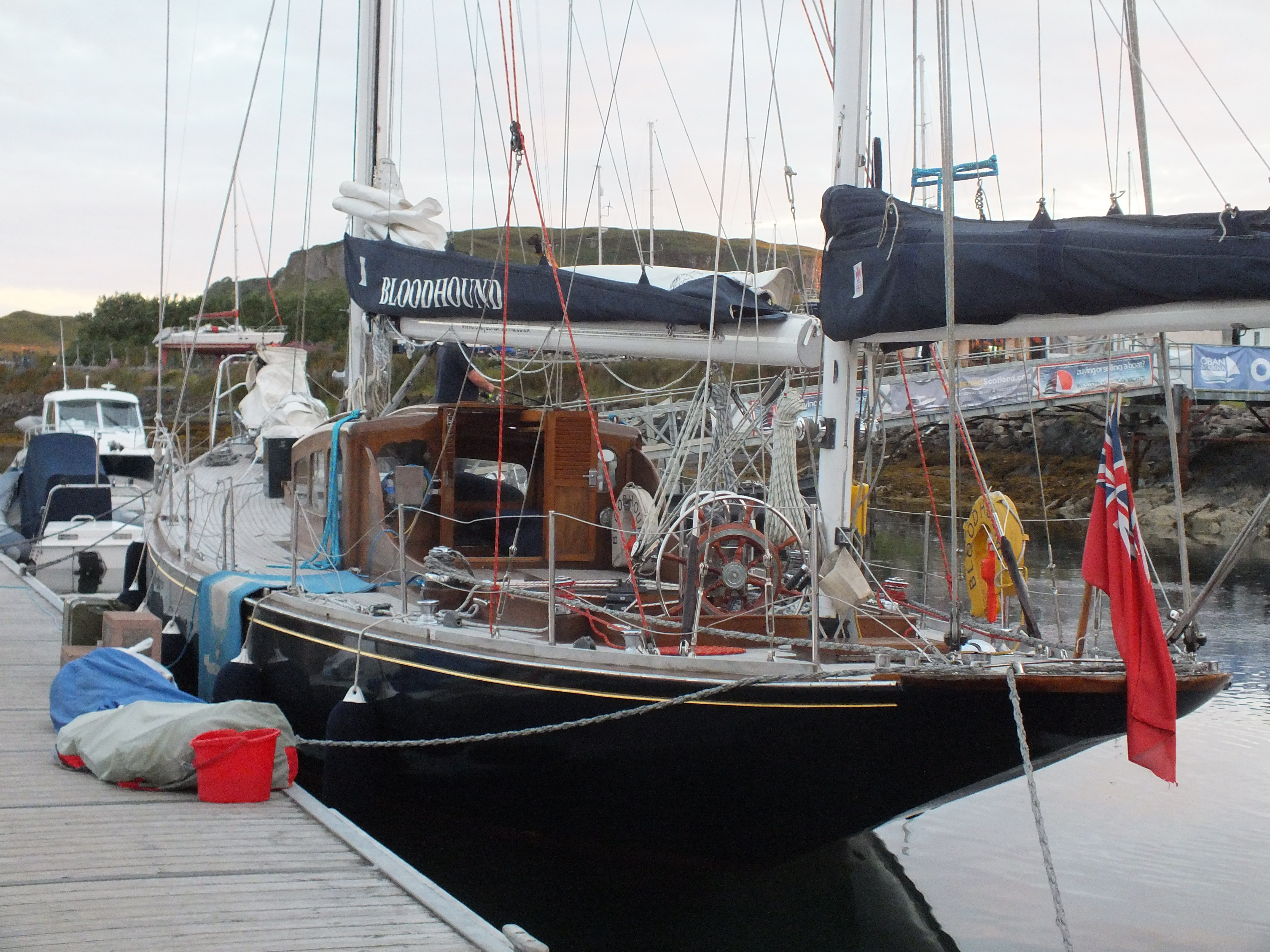 The famous yacht Bloodhound in Oban