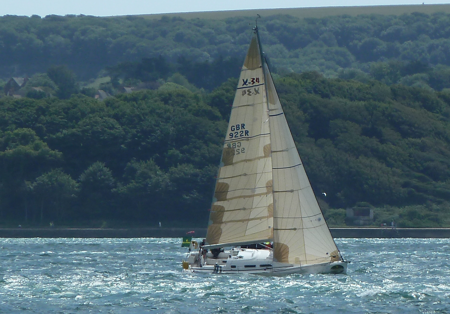 Beating past Hurst Castle