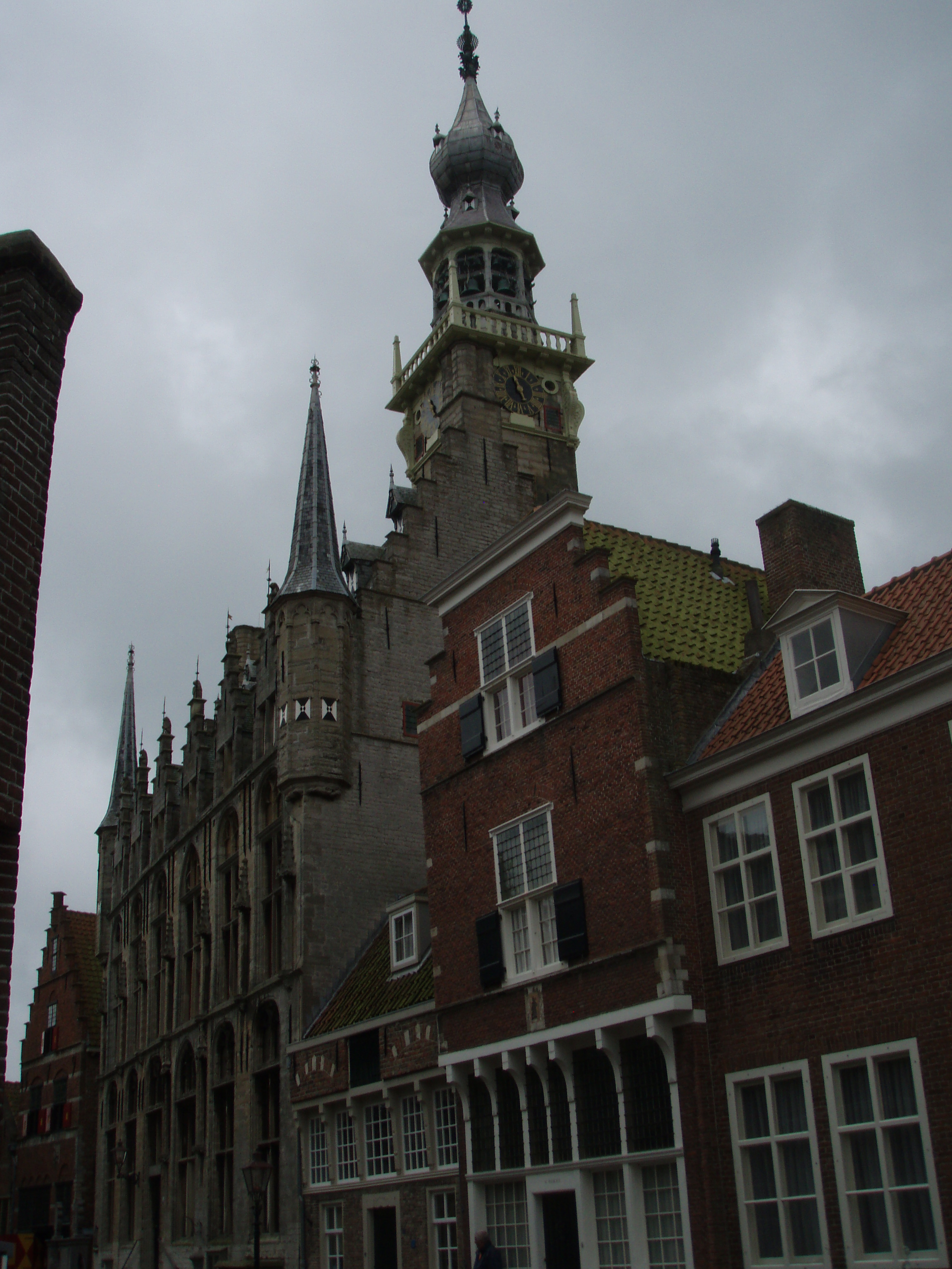 Veere Town Hall with clock Tower