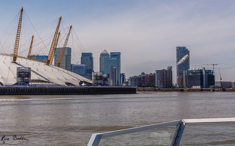 The O2 and Canary Wharf from the east