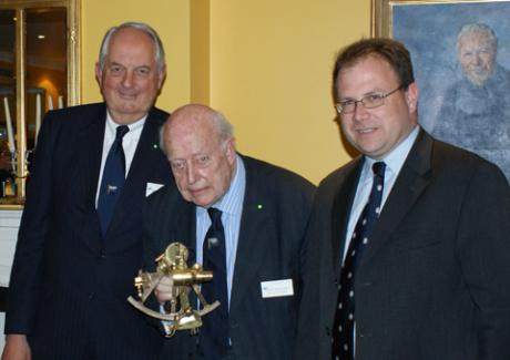 David Roache, Norman Hummerstone, Richard Falk launch of LSC navigation award