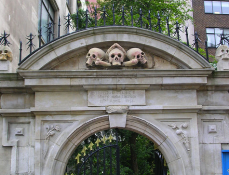 The entrance to St Olave's Church, Seething Lane