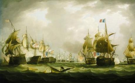 Battle of Trafalgar, the beginning of the action (Creative Commons)