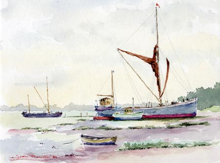 Barges at Pin Mill