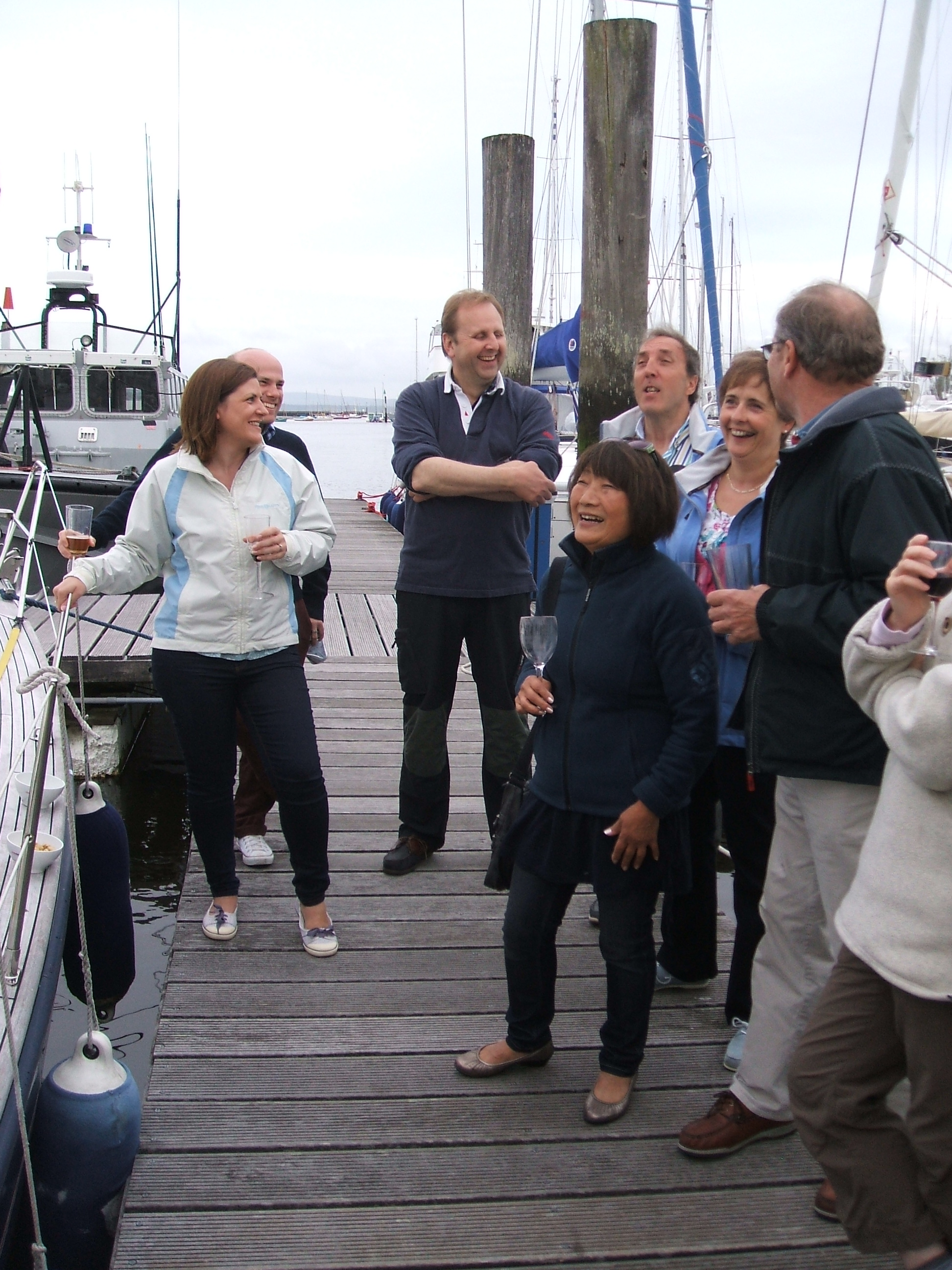 Pontoon party and prize-giving, Lymington
