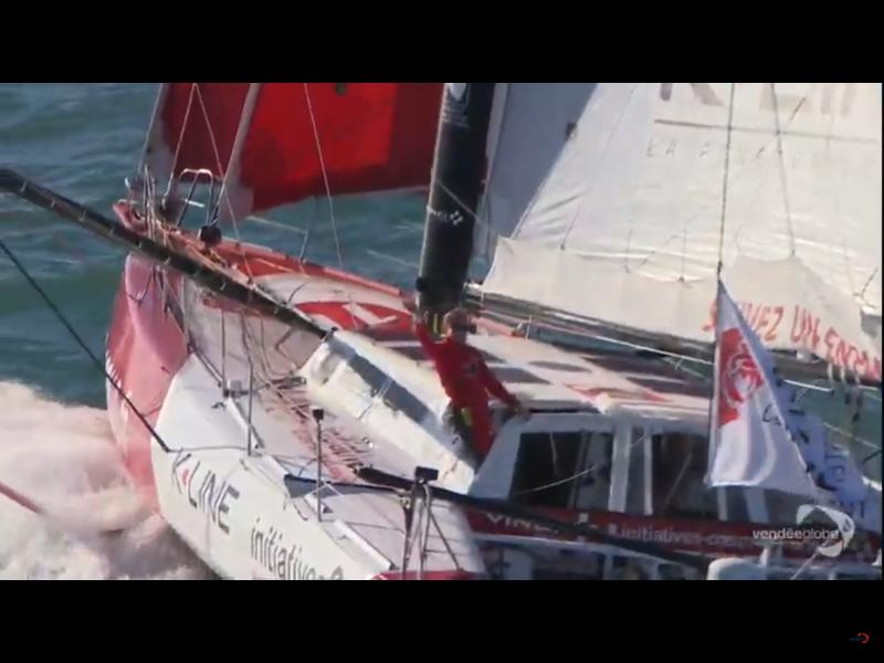 Sam Davies onboard Initiatives-Coeur in the Vendée Globe