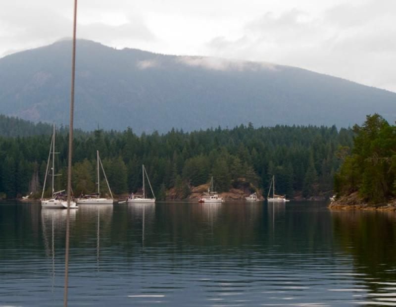 Anchored peacefully in Squirrel Cove