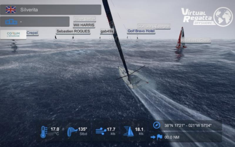 3D images give realistic wave action from Silverita foiling at 18 knots.