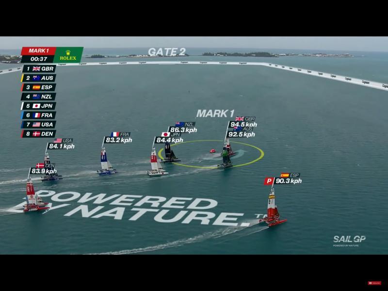 The British boat hits 94kph in Bermuda SAILGP race 4