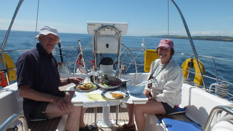 A formal lunch on passage to Peterhead