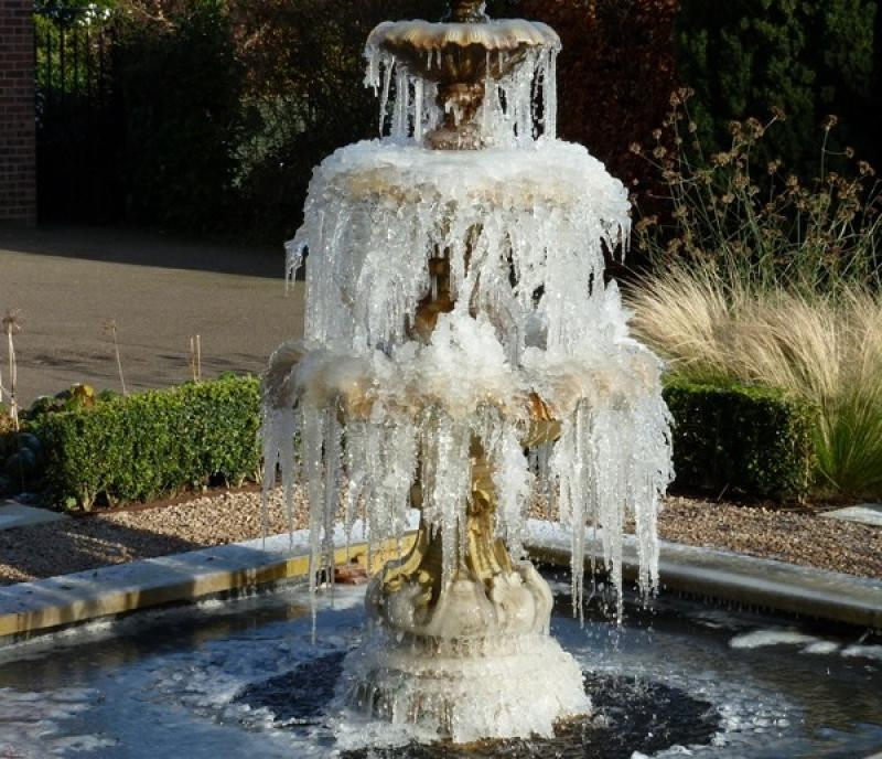 Icy fountain