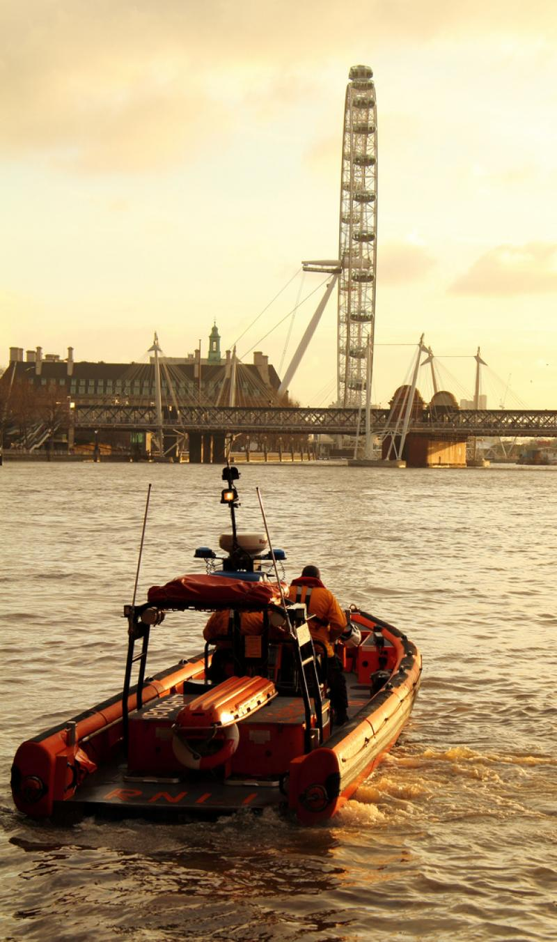 Tower Lifeboat on the Thames