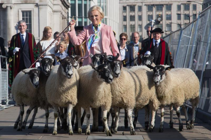 City of London Sheep Drive with Mary Berry