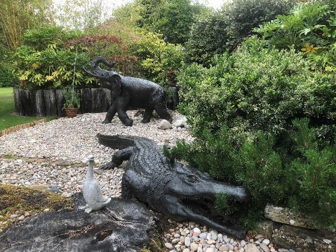 Wellington the Crocodile statue