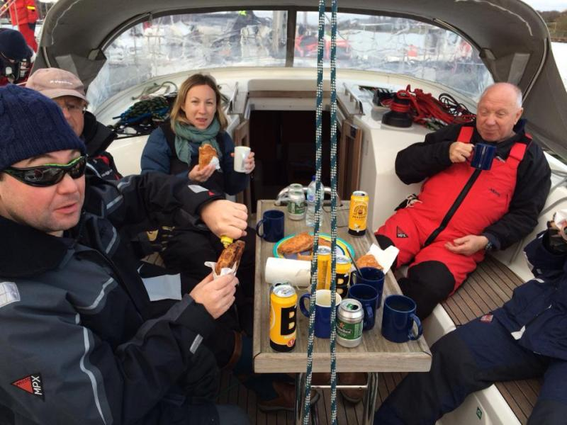 Soup and Beer at the Folly pontoon