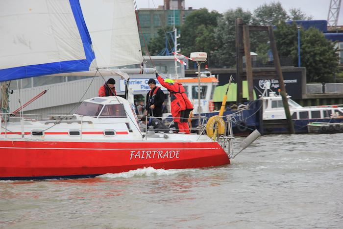 Yachts on the Thames Trafalgar Race 2016 (Sally Armstrong)