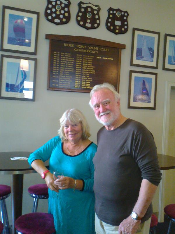 Club members Pam Cassidy and Dick Williamson in Sydney