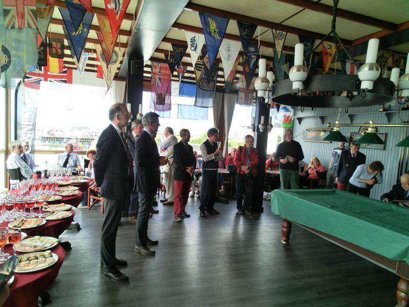 Canapés and prizes with Les Voiles de Calais Little Ship Club