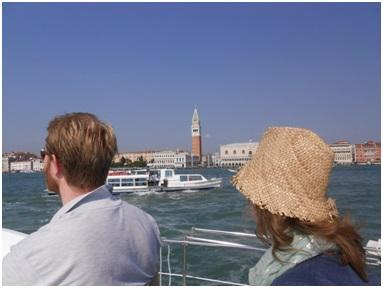 Off the Piazza San Marco heading for the Giudecca